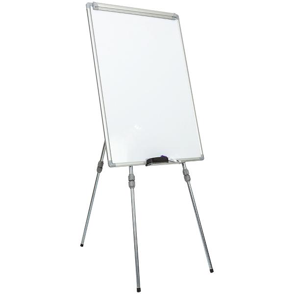 Flipchart magnetic 70 x 100 cm,rama aluminiu cu trepied ajustabil, Noki INT-619-4F