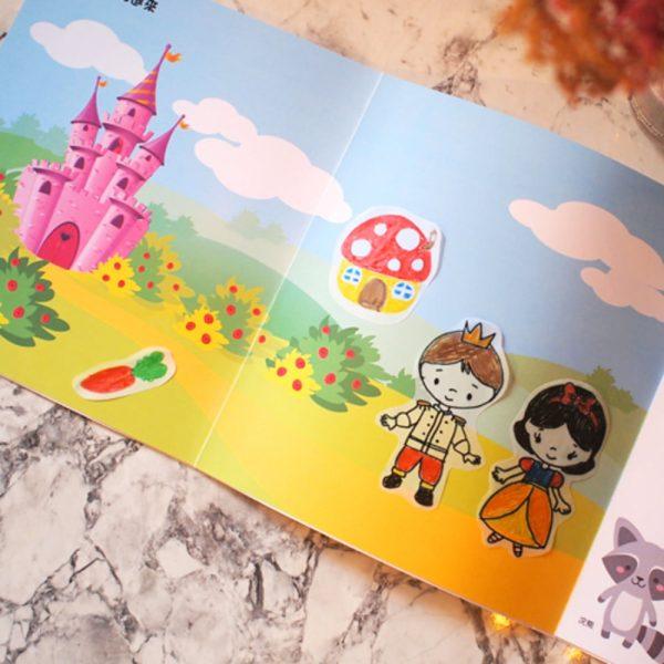"""Carte de colorat educativa Stick""""n Tracing Work Book - My Fairy Tale"""