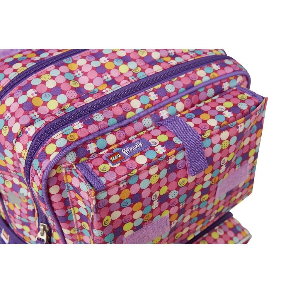 Ghiozdan scoala Maxi + sac sport LEGO Core Line - design Friends Confetti