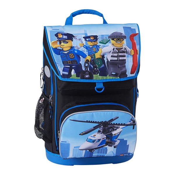 Ghiozdan scoala Maxi + sac sport LEGO Core Line - design City Police Chopper