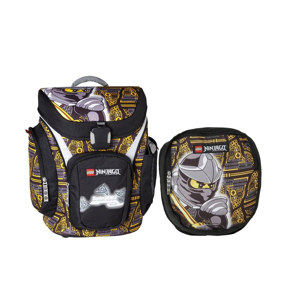 Ghiozdan scoala Explorer + sac sport, LEGO Core Line - design negru NinjaGo Cole
