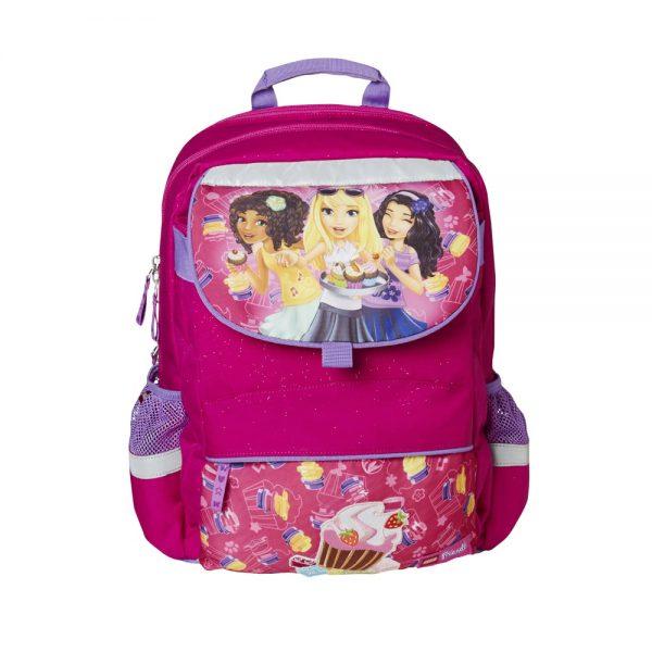 Ghiozdan scoala Starter Plus LEGO Core Line - design roz Friends Cupcake