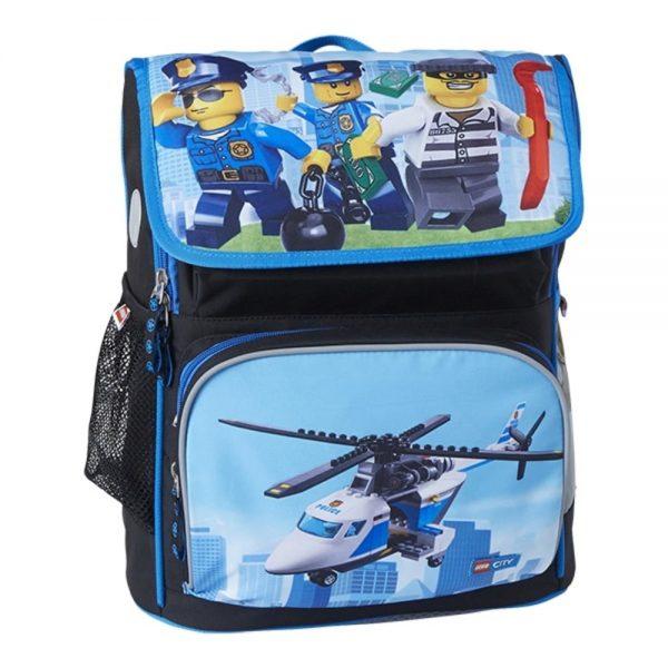 Ghiozdan scoala Recruiter, LEGO Core Line - design City Police Chopper