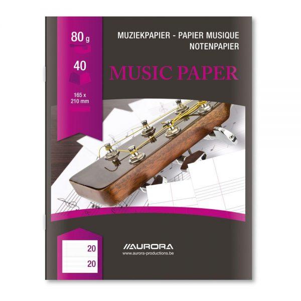 Caiet A5 20 file - 80g/mp, AURORA - muzica