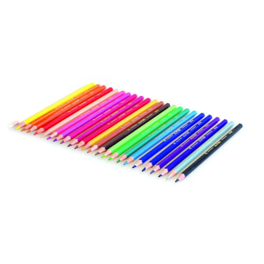 Creioane colorate, cutie carton, 6 culori/set, ALPINO