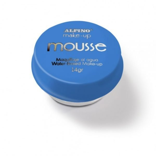 Spuma machiaj, 14gr., ALPINO Make-Up Mousse - albastra