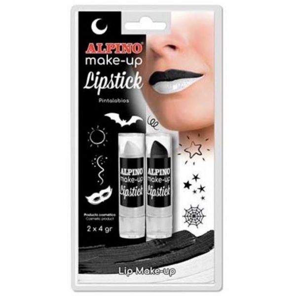 Set 2 rujuri ALPINO Make-up Lipstick - alb + negru