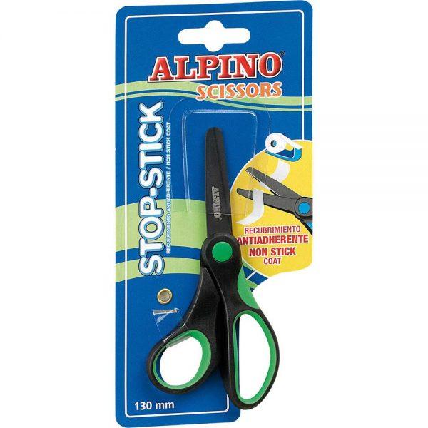 Foarfeca copiii 13 cm, cu rubber grip, in blister, ALPINO Stop Stick