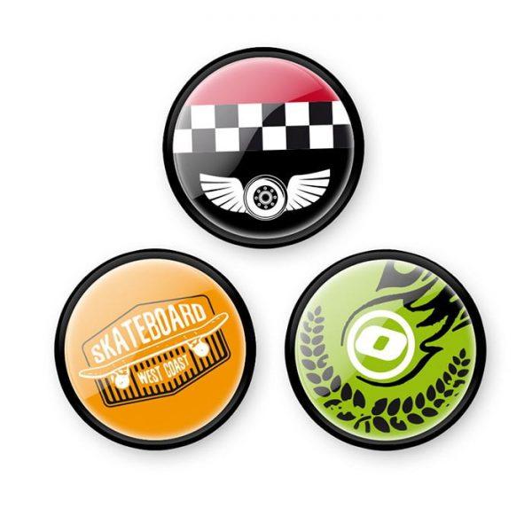 Insigne, 3buc/set, Roller NIKIDOM - Skate