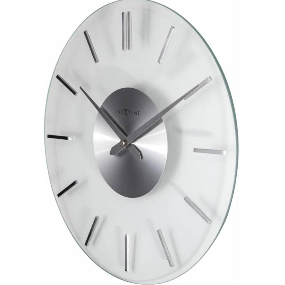 Ceas de perete, D-26 cm, cifre arabe, sticla, NeXtime - Stripe