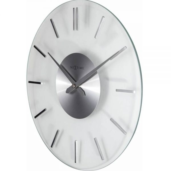 Ceas de perete, D-31cm, sticla, NeXtime - Stripe