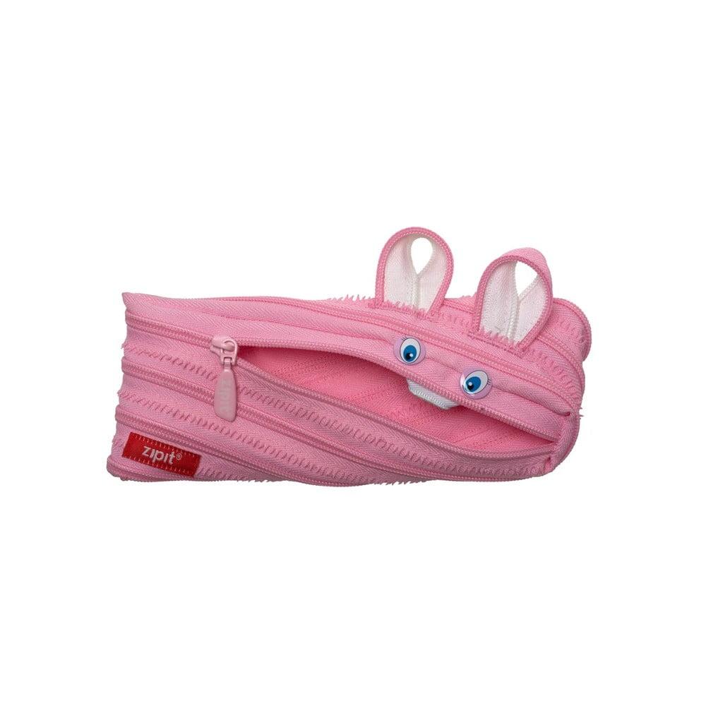 Penar cu fermoar, ZIPIT Animals - iepure - roz deschis