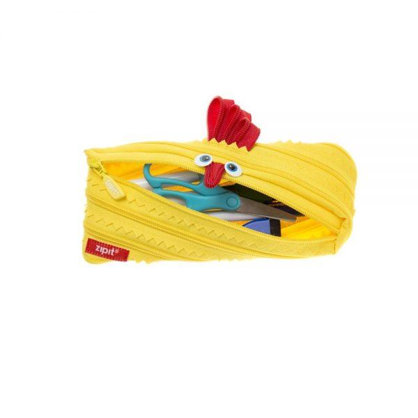 Penar cu fermoar, ZIPIT Animals - pui - galben deschis