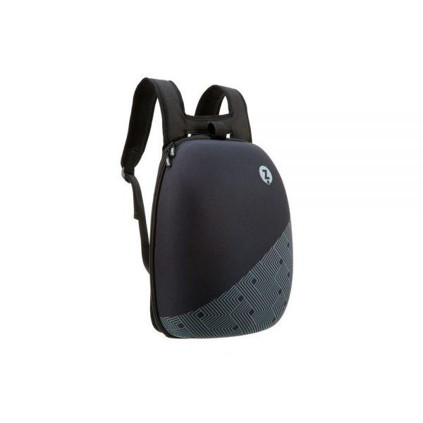 Rucsac ZIPIT Shell - negru cu design cu dungi negre