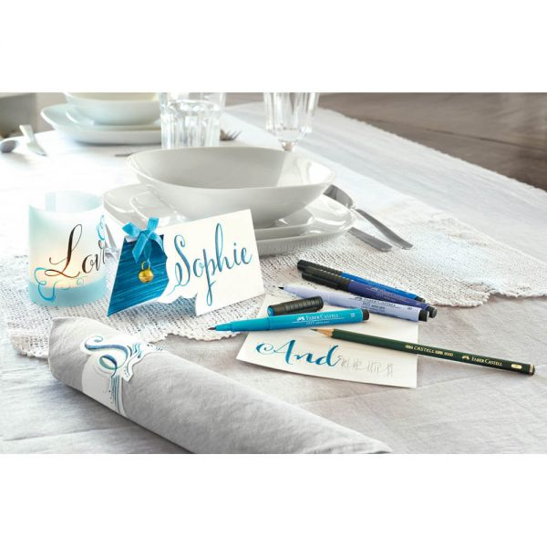 Marker metalizat FABER-CASTELL Pitt Artist Pen, 4 buc/set