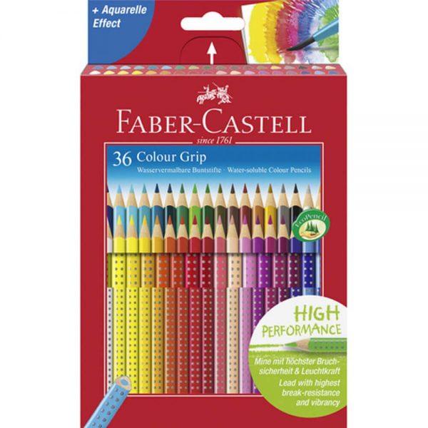 Creioane colorate 36 culori/set FABER-CASTELL Grip 2001