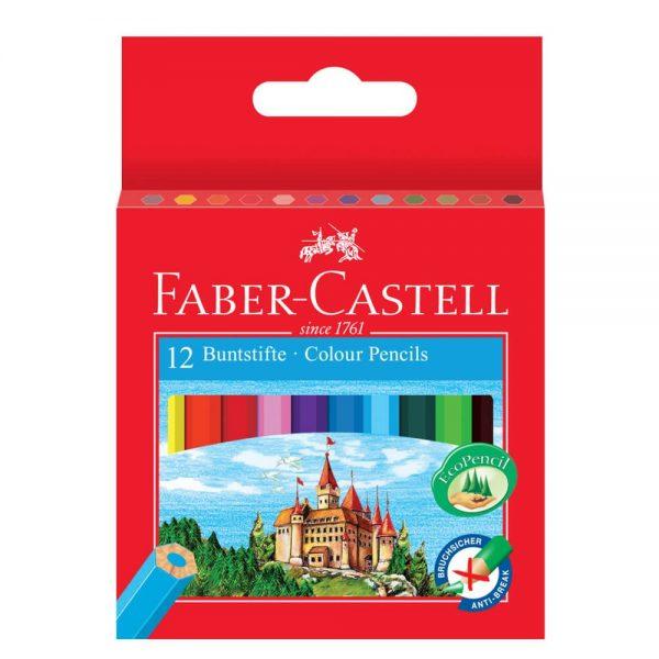 Creioane colorate 12 culori/set lungime 1/2 FABER-CASTELL