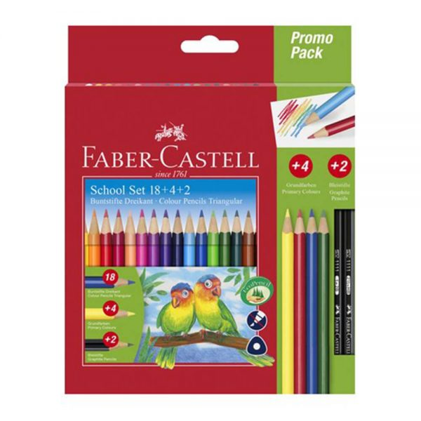 Creioane colorate eco 18+4+2 buc/set FABER-CASTELL
