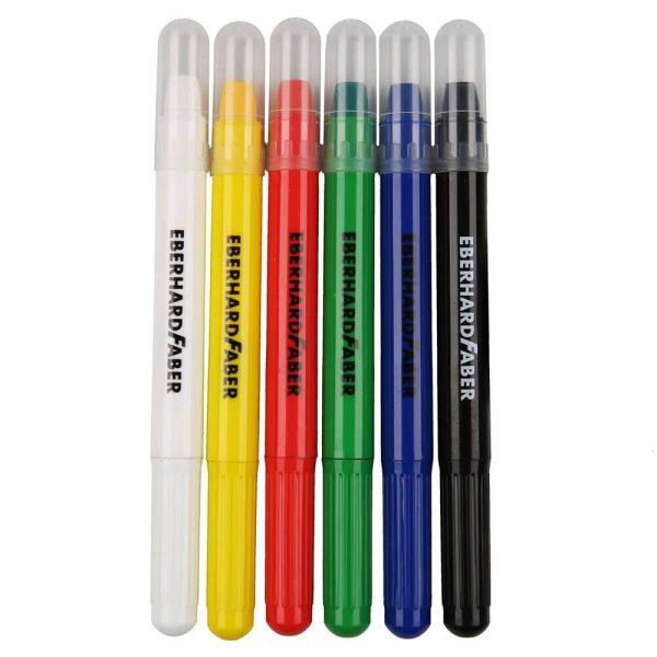 Set creioane retractabile machiaj copii, 6 culori, EBERHARD FABER