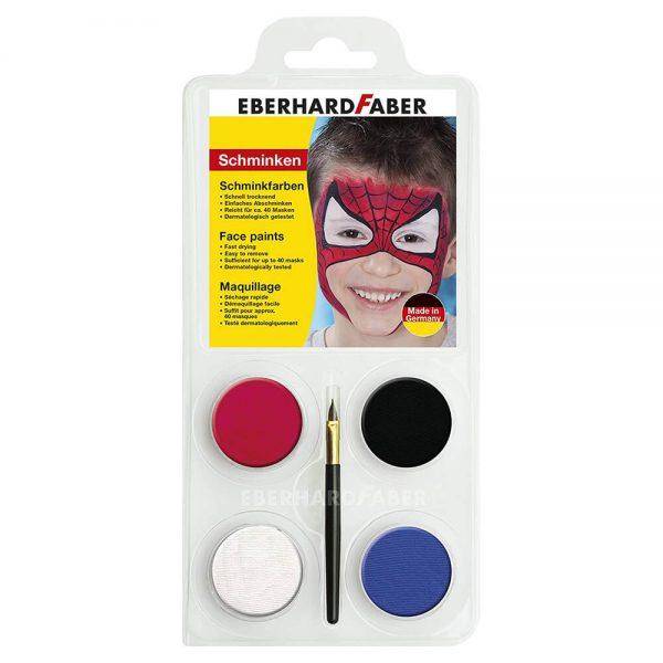 Set machiaj fata copii, 4 culori, EBERHARD FABER Spiderman