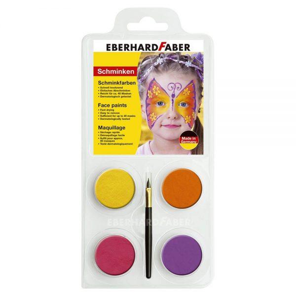 Set machiaj fata copii, 4 culori, EBERHARD FABER Fluturi