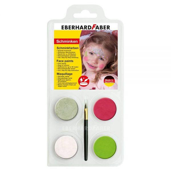 Set machiaj fata copii, 4 culori, EBERHARD FABER Printesa