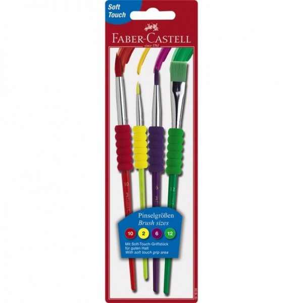 Pensule soft touch 4 buc/set Faber Castell