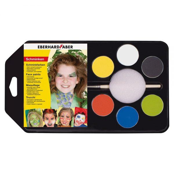 Set machiaj fata copii, 6 culori, EBERHARD FABER Party