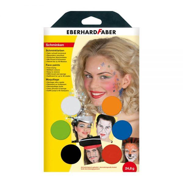 Set machiaj fata copii, 6 culori, EBERHARD FABER Musical
