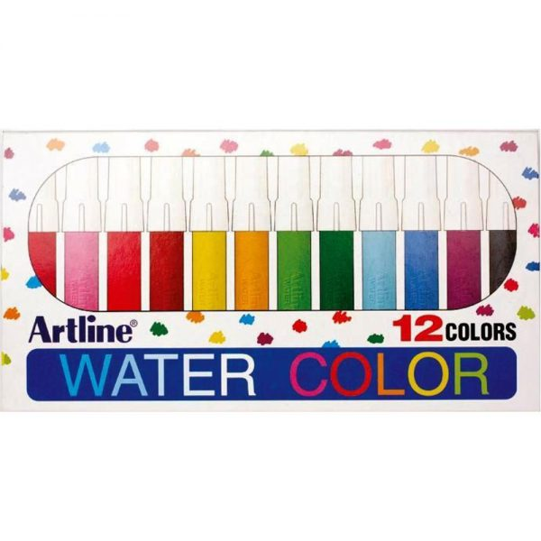 Watercolor marker ARTLINE 300, corp plastic, 12 culori/set
