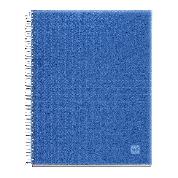 Caiet cu spira A6 matematica, Miquelrius, Candy Code, 140 file, coperta PP, bleu