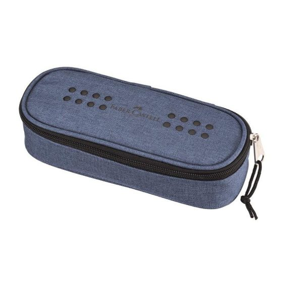 Penar Faber-Castell grip Melange, albastru