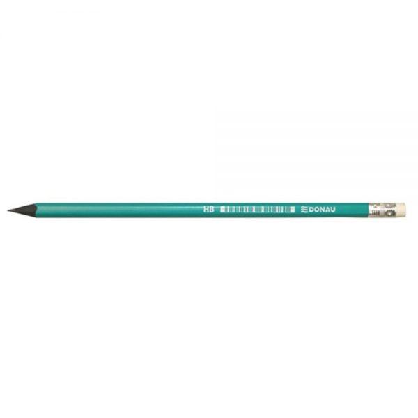 Creion cu guma, HB, din plastic, DONAU