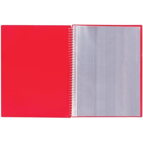 Dosar de prezentare cu 40 de folii, ELBA Urban, spirala, coperti PP, elastic pe colturi - rosu