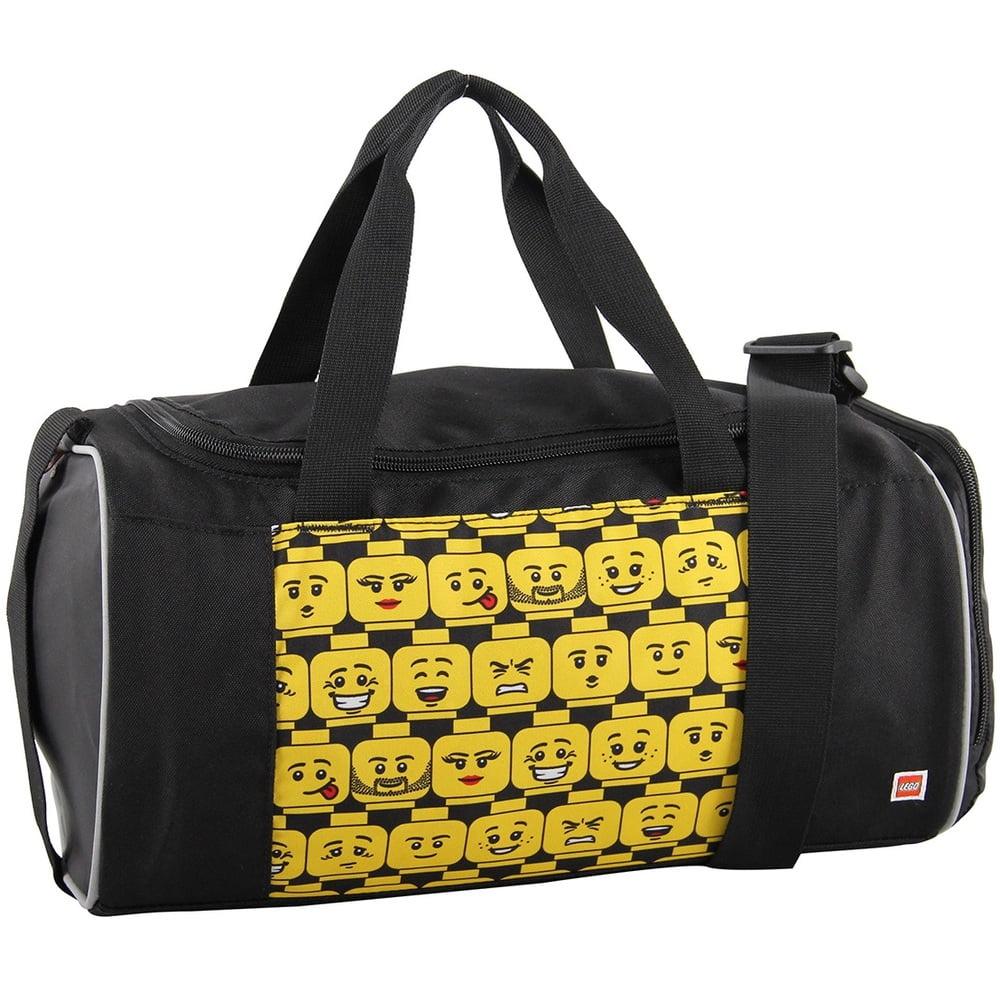Geanta echipament sportiv, cu buzunar pentru incaltaminte, LEGO Core Line - design Minifigures Heads