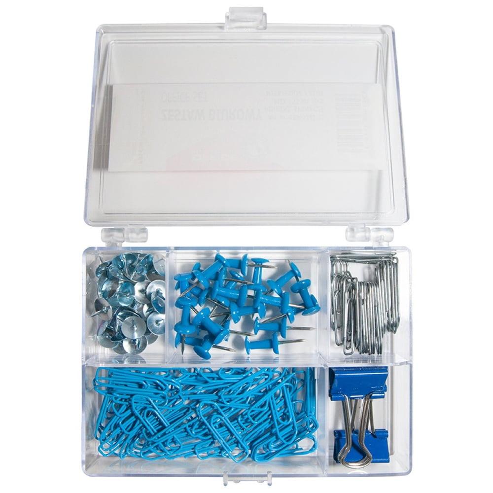Set accesorii de birou, 153 piese, Office Products - albastru