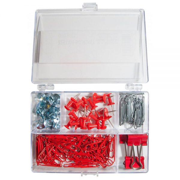 Set accesorii de birou, 153 piese, Office Products - rosu
