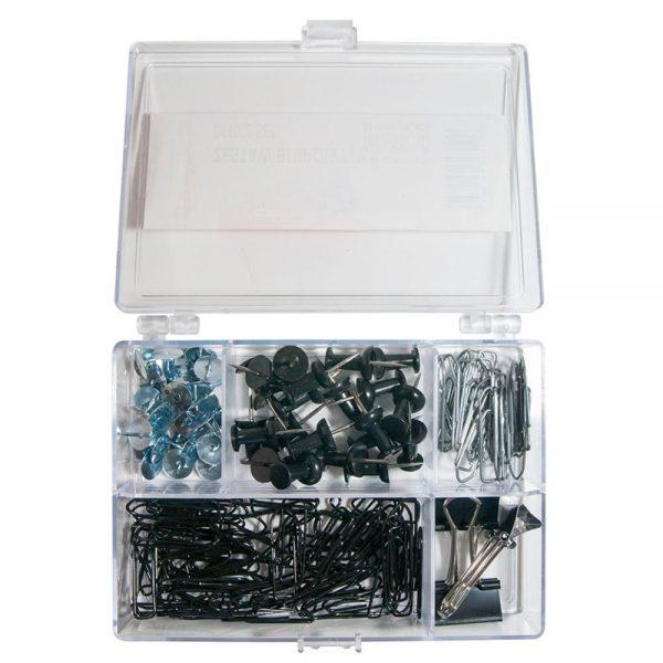 Set accesorii de birou, 153 piese, Office Products - negru