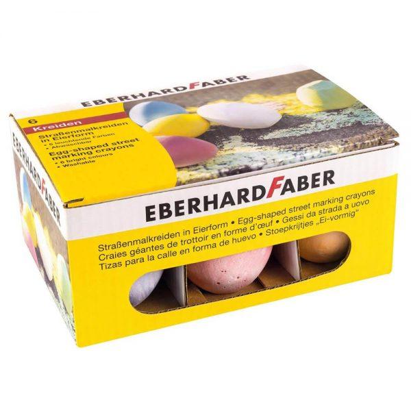 Creta colorata, asfalt, forma ou, 6 buc/cutie EBERHARD FABER
