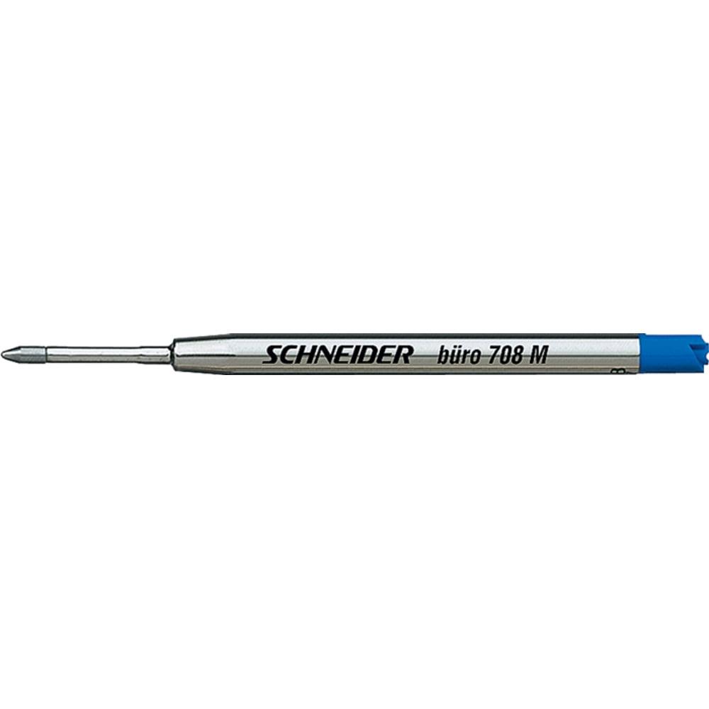 Rezerva metalica SCHNEIDER buro 708M (tip Parker) - albastru