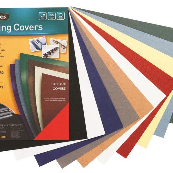 Coperti carton A4, 250 g/mp, 100 buc/top, Fellowes ( diverse culori )