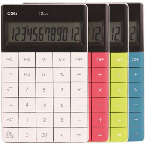 Calculator de birou 12 digiti Deli 1589 - diverse culori