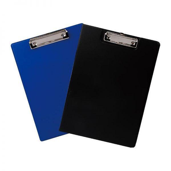 Clipboard simplu carton plastifiat A4 Deli - culoare albastru