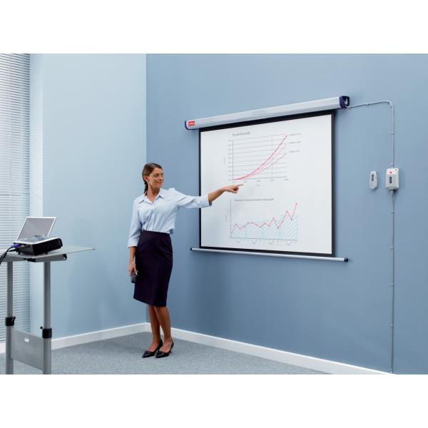 Ecran electric pentru proiectie 144 x 108 cm Nobo