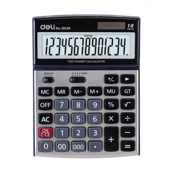 Calculator birou 14 digiti Metal, Deli 39229