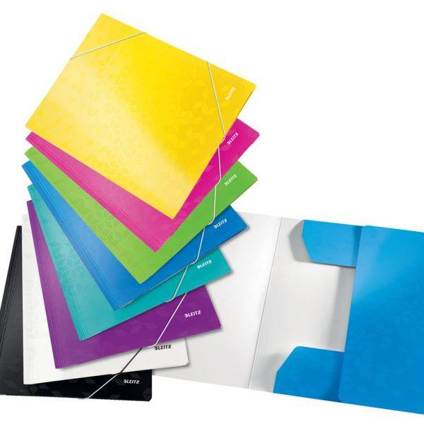 Mapa carton cu elastic LEITZ WOW - diverse culori