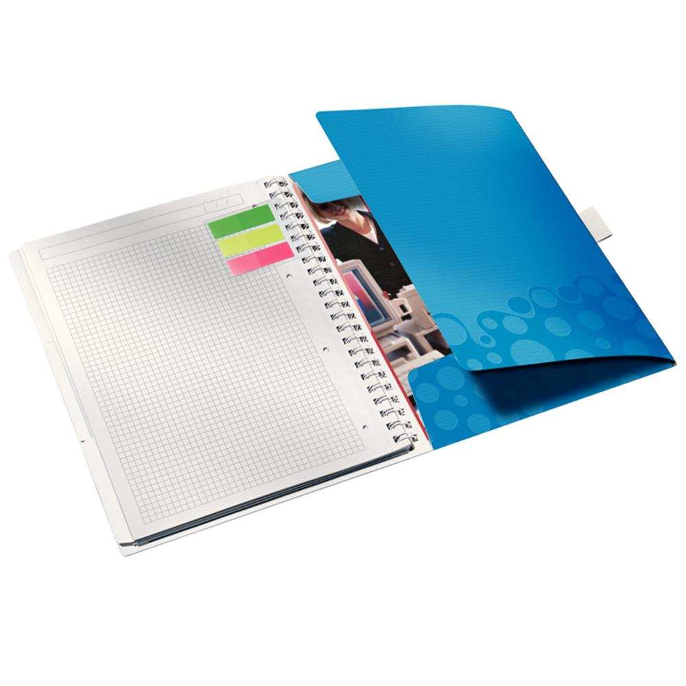 Caiet de birou Leitz WOW Be Mobile, PP, A4, cu spira, matematica
