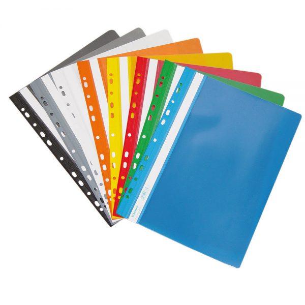 Dosar plastic cu sina si multiperforatii,PVC, 10 buc/set, DONAU