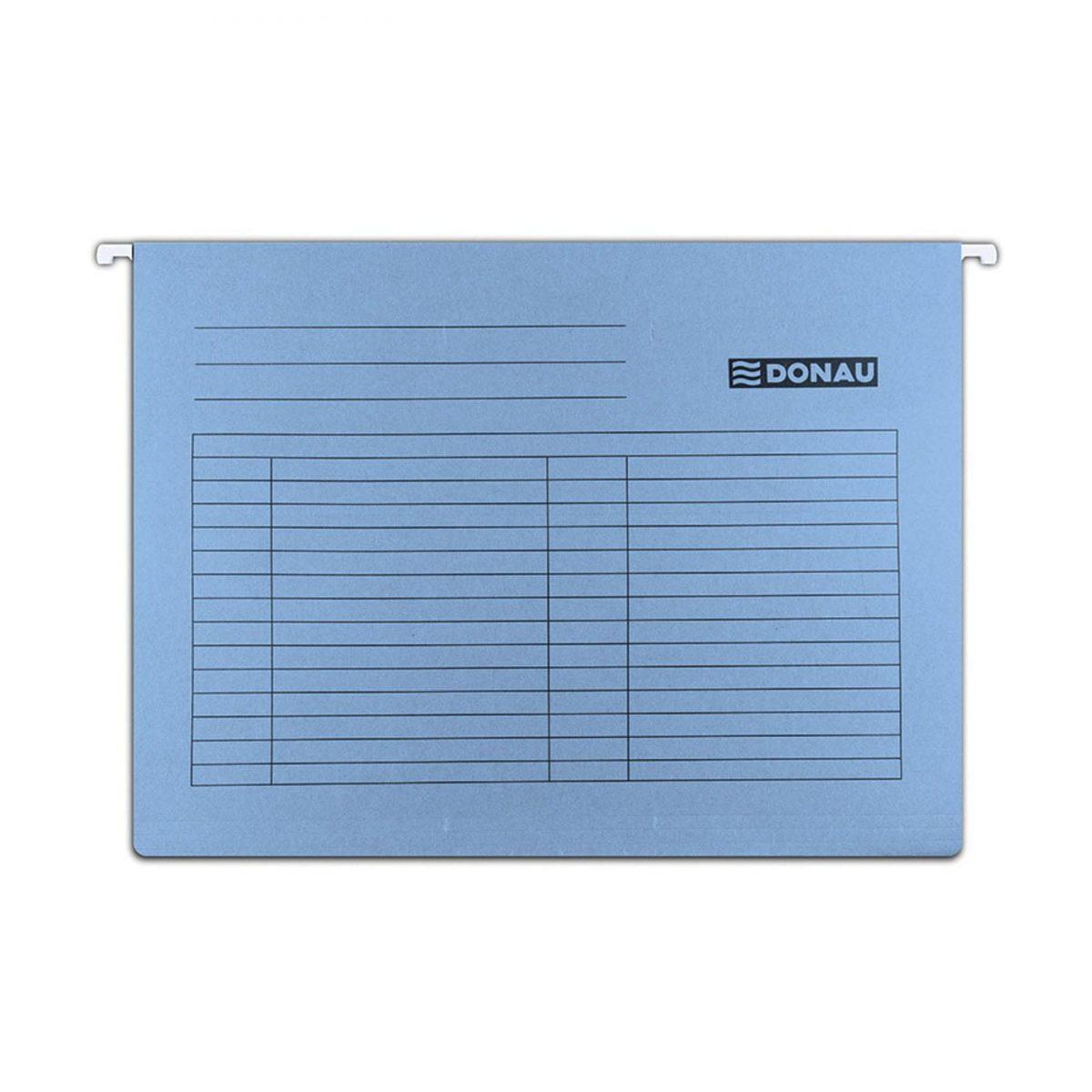 Dosar suspendabil cu eticheta, bagheta metalica, carton 230g/mp, 5 buc/set, DONAU