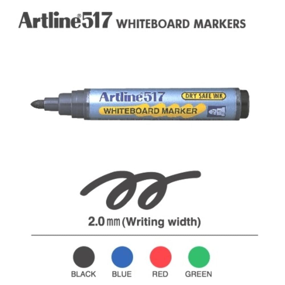 Whiteboard marker Artline 517, varf rotund 2.0 mm